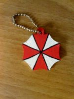 Umbrella Corp. Keychain by Clare-Sparda
