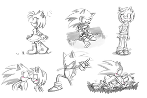 Sonamy :Sketches: by Blue-Chica