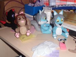My plushie desk - 4th October 2012 by Mandy-Lou-Plushies