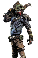 Borderlands 2 Bandit Render by meta625