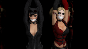 Harley and Catwoman by BLENDERTAPER