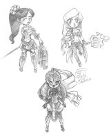 Chibis Sketches by Caiwin