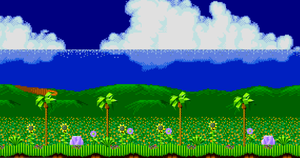 Custom Green/Emerald Hill Background by JoonTH