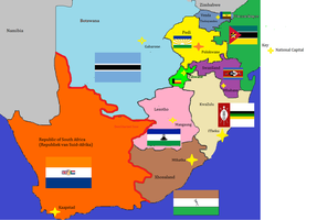 Balkanized South Africa by dragonvanguard