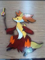 Delphox woodshop by LoneRBlackWolf