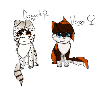Doggeh and Venus (Anatomy = How about no?) by Dogtooth229