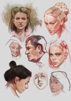 Portrait studies by vladgheneli