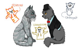Graystripe and Silverstream's Wedding by TiigerLiily