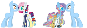 Harmony and Crytalios Breedable by Kyah-Pony-Adoptables