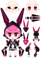 Black Rock Shooter - The Game XNFE(nendroid?) by RoundCottonCandy