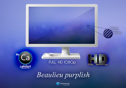 Wallpaper Beulieu Purplish by CaHilART