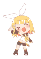 haa~i chibi Rin-chan by grimay