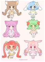 Adoptables Batch [Closed] by myaoh