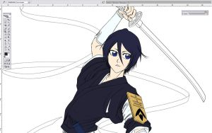 New RUKIA WIP by Washu-M