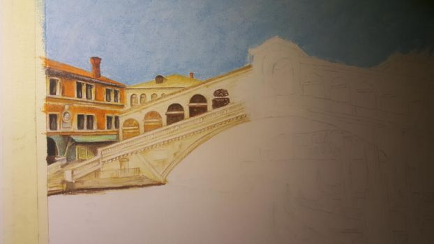 Rialto Bridge Venice WIP 2 by MariaIla