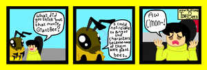 Giant Bee And Friend by Skiskir