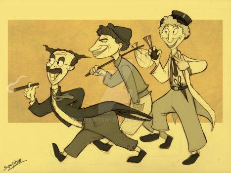 The Marx brothers by superxtoon