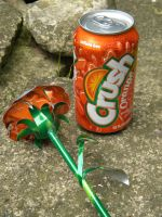 Soda Can Rose - Orange1 by Christine-Eige
