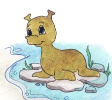baby waterhorse by HappyDucklings