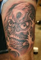 Tibetian Skull upper thigh by scottieford