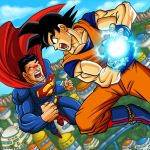 Superman vs Goku by GONZZO