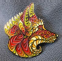Foxy Face Pin - Series 1 by PhilLewis