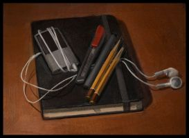 Still life with a sketchbook by Emil-K