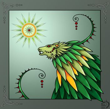 Green lion by Gerie-Aren