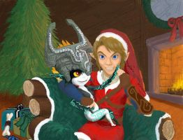 Midna x Link Christmas WIP by Ruthac-Arus