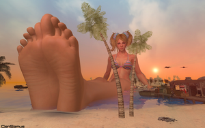 Relaxing Giantess Juliet by GenSamus