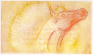 Red Horse -watercolor- by Ishaway