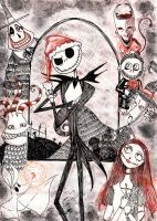 Nightmare Before Christmas - The Red Christmas by Millennia91