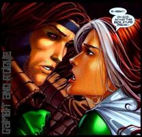 Gambit and Rogue by HeavenlyInferno