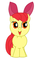 Applebloom drawing with bow by Scootsgaming