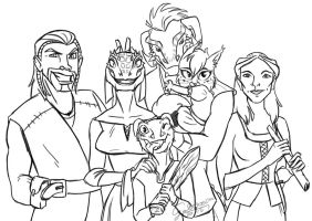 My family in Skyrim by GalooGameLady