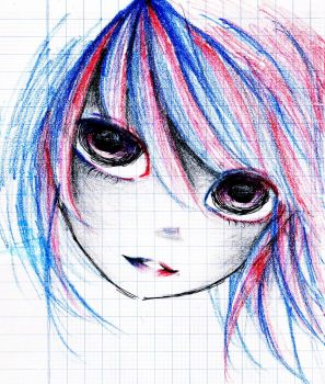 Right Blue Left Red by AnnRosalyn