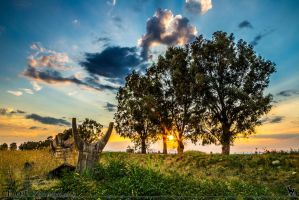 Sunset near Sigonellla Sicily 4 by 7whitefire7