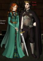 Queen Mary and King Spell by chook-four