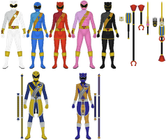 Commission: Yasei Sentai Wildranger by Omega-King-DX