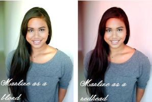 Marline with Different Hair Colours by iluvlouis
