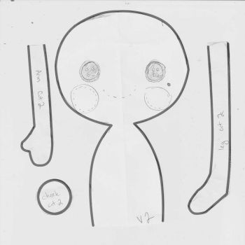 Lalaloopsy style rag doll pattern by HarleyQuinne