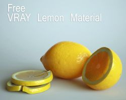 free vray lemon material by opengraphics