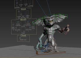 Gremlin - 3D Model - Rig Progress! by FoxHound1984