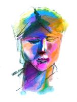 Colored face 1 by Polyesterday
