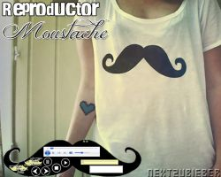 Reproductor de musica ejecutable: Moustache by Cursorsandmore