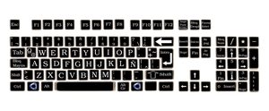 Vintage keyboard square keys by pendragon1966