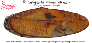 4 Seasons Pyrograph Series - Autumn (Fall) by snazzie-designz