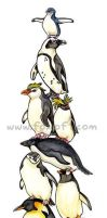 Penguin Stack by Foxfeather248