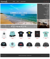 Diamond Supply Co. Website Design by TriigzHD