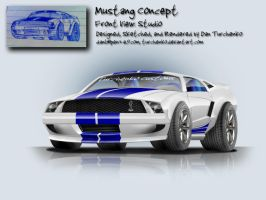 Mustang Concept- front view by Turchenko